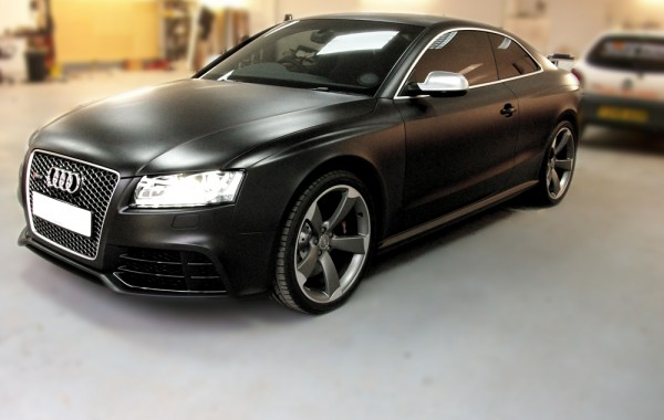 Audi RS 5 Flat Black Vehicle Wrap