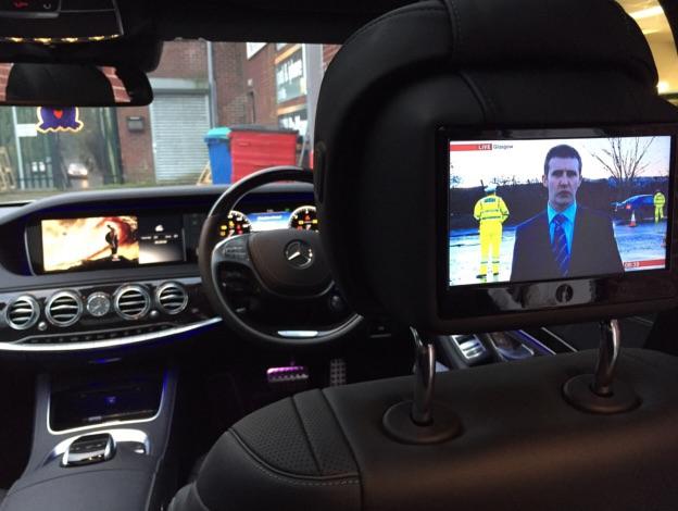 """2015"" Mercedes S Class Rear DVD Package"