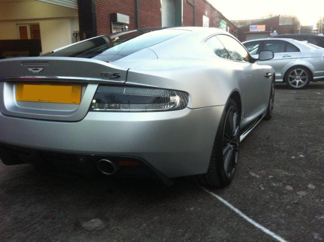 Aston Martin DBS Matt Silver Vehicle Wrap