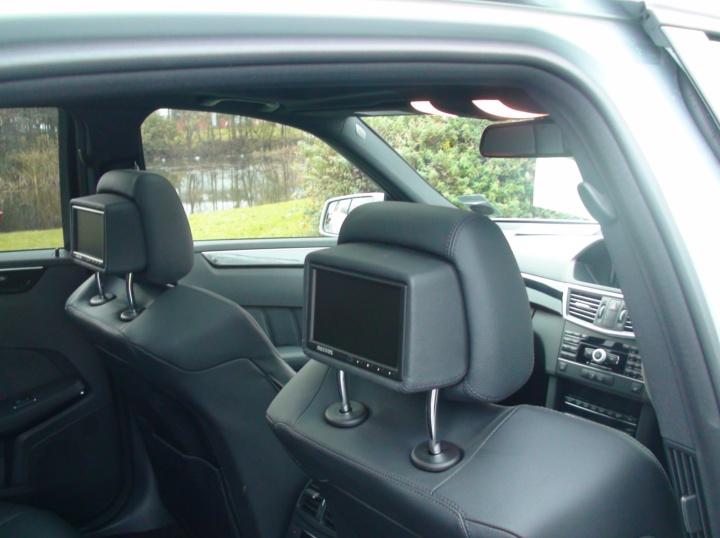 Mercedes E63 AMG Rear DVD Entertainment System