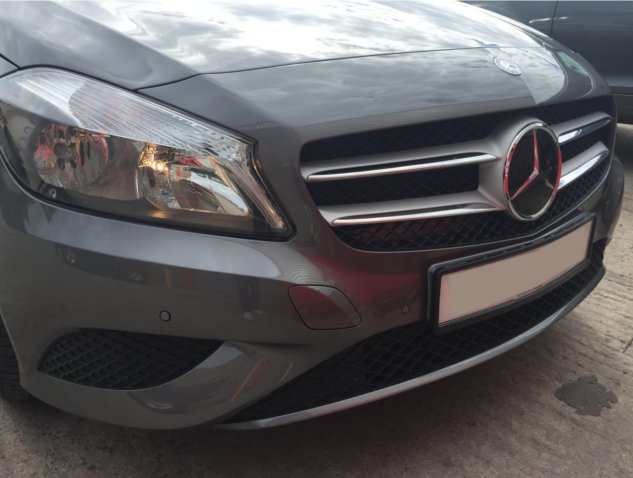 mercedes a class flush mounted parking sensors av solutions